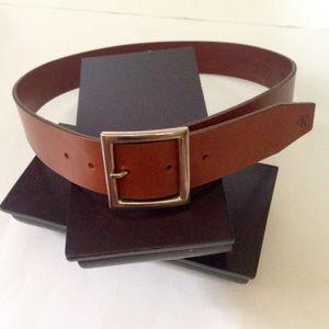 Vintage 90s CK Calvin Klein Saddle Leather Belt